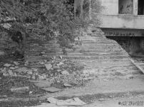 Rubble of steps to the front entrance
